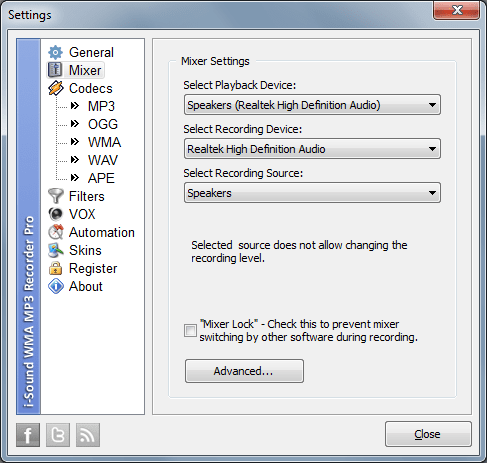 streaming audio recorder options