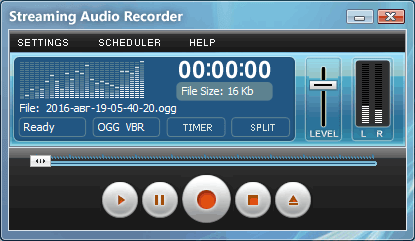 Streaming Audio Recorder for Windows
