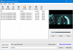 Click to view Free Video to MP3 Converter Pro 1.8.0.0 screenshot