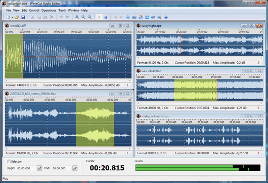 WaveCut is an visual audio editor